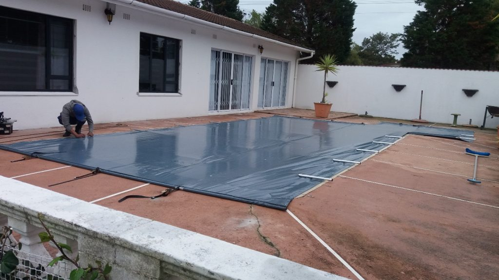pool completely covered by PVC tarpaulin